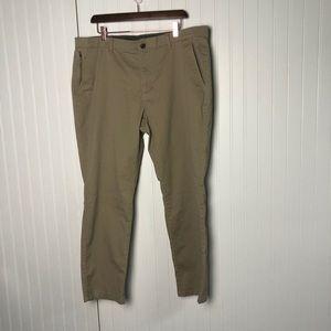 English laundry Men's Tan Khaki Zipper Pants